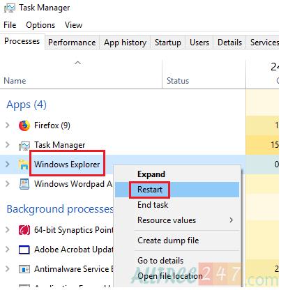 Hướng dẫn sửa lỗi Explorer.exe failed trong Windows 10