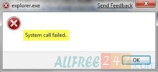 sửa lỗi Explorer.exe failed