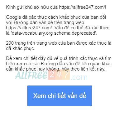khac phuc loi google schema deprecated