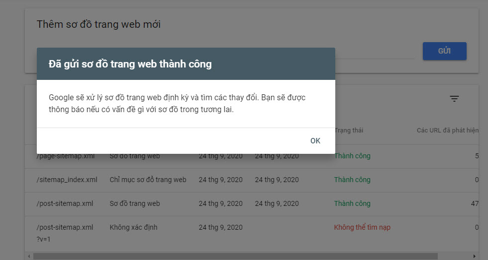sua loi khong the tim nap sitemap trong google search console 5